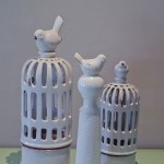 C7-M:L Birdcage candle holder & bird stand