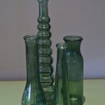 G17-Green bottle vases