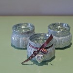 G24-Silver speckled tea light